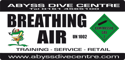 Abyss Dive Centre tank sticker